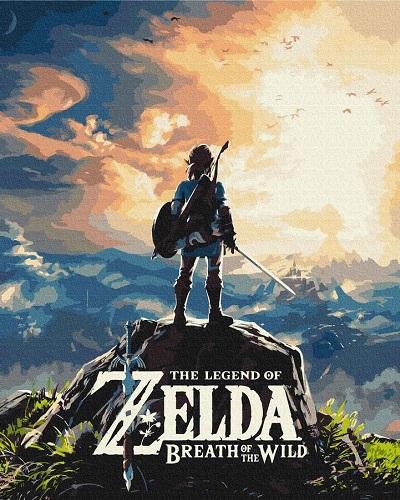 Купить картину по номерам The Legend of Zelda Breath of the Wild RM2021